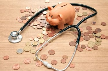 Coins Piggy Bank Stethoscope