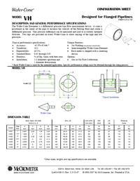 Wafer-Cone Flow Meter Datasheet