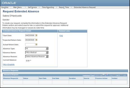 Peoplesoft Absence Management