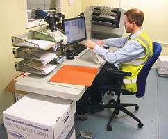 Transportable Scanning Workstation Allows Management of Hard Copy And Digital Information