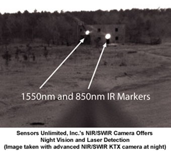 NIR/SWIR Night Vision And Laser Detection Camera