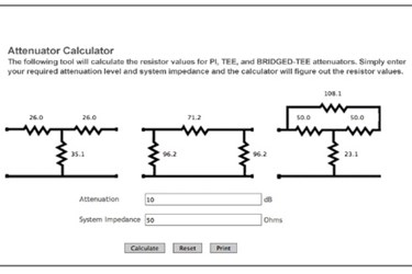 Custom_MMIC_Attenuator Calculator