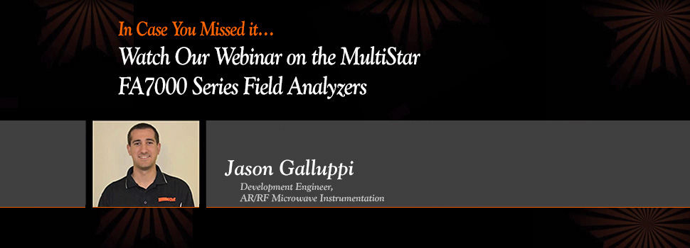 AR Presents, 'What Is A Field Analyzer Webinar'