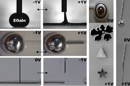 Researchers Control Surface Tension To Manipulate Liquid Metals