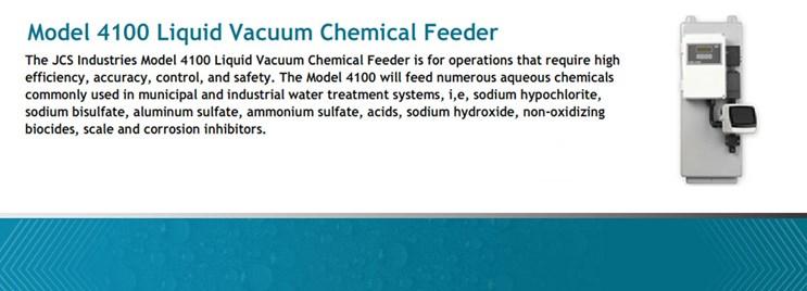 Model 4100 Liquid Vacuum Chemical Feeder