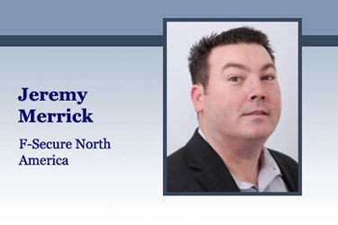 Jeremy Merrick, director of corporate sales, North America for F-Secure