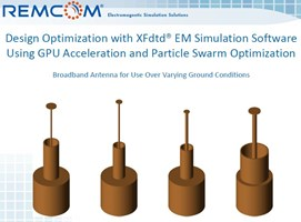 Design Optimization with XFdtd EM Simulation Software Using GPU Acceleration and Particle Swarm Optimization