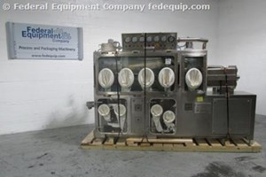 Used Long Powder Systems Dispencell Glovebox Isolator