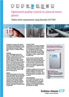 Case Study: Optimized Quality Control In Mineral Water Plants