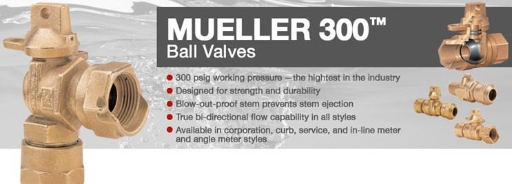 Mueller® 300™ Ball Curb Valve
