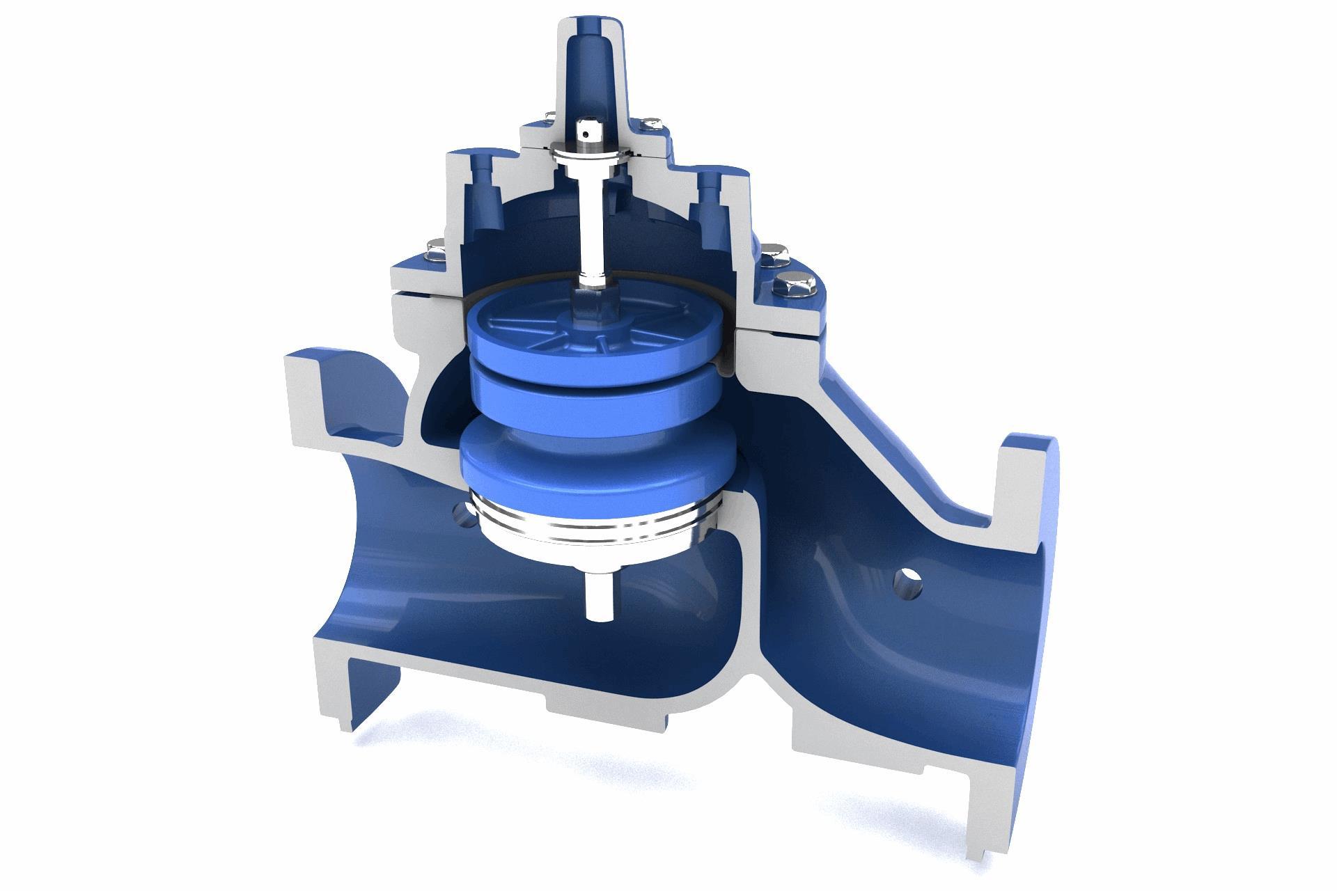 Single Rolling Diaphragm Pressure Reducing Valve