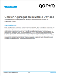 Carrier Aggregation In Mobile Devices