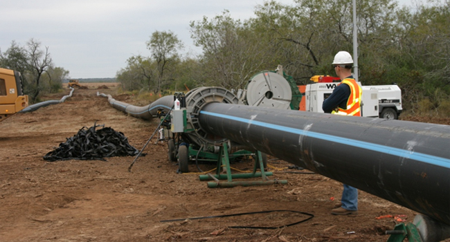 A water pipeline extension recently completed for the San Antonio Water System (SAWS) is the largest high-density polyethylene (HDPE) pipe project of its ... & New Twenty-Three-Mile San Antonio Water Pipeline Wins Industry Award