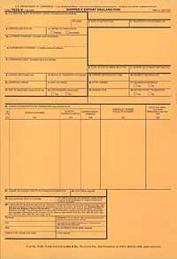 Shipper's Export Declaration Form