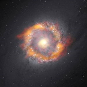 ALMA Weighs Black Hole With 140x Sun's Mass