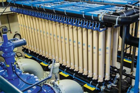 Retrofit Membrane System Treats High Turbidity Water