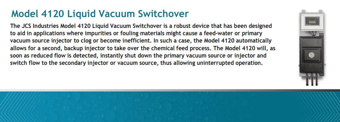 Model 4120 Liquid Vacuum Switchover