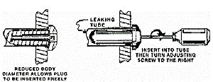 Adjustable Condenser Tube Plug