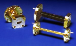 Millimeter Wave Tapered Transitions, Waveguide Flange Adapters, and Straight Waveguide Sections