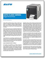 SATO CL4NX Series: Rugged Thermal Printer