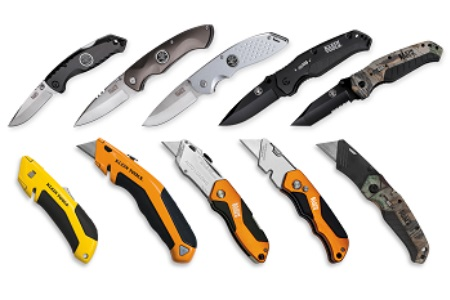 klein tools introduces new utility and pocket knives