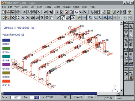 rebis upgrades pipe network flow analysis software - Autoplant 3d