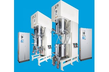 Ross 200-gallon Double Planetary Mixers with PLC Recipe Controls