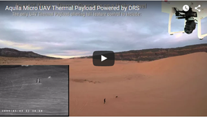 Aquila Micro UAV Thermal Payload Powered By DRS