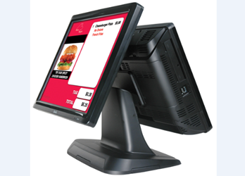 Rear facing POS screen