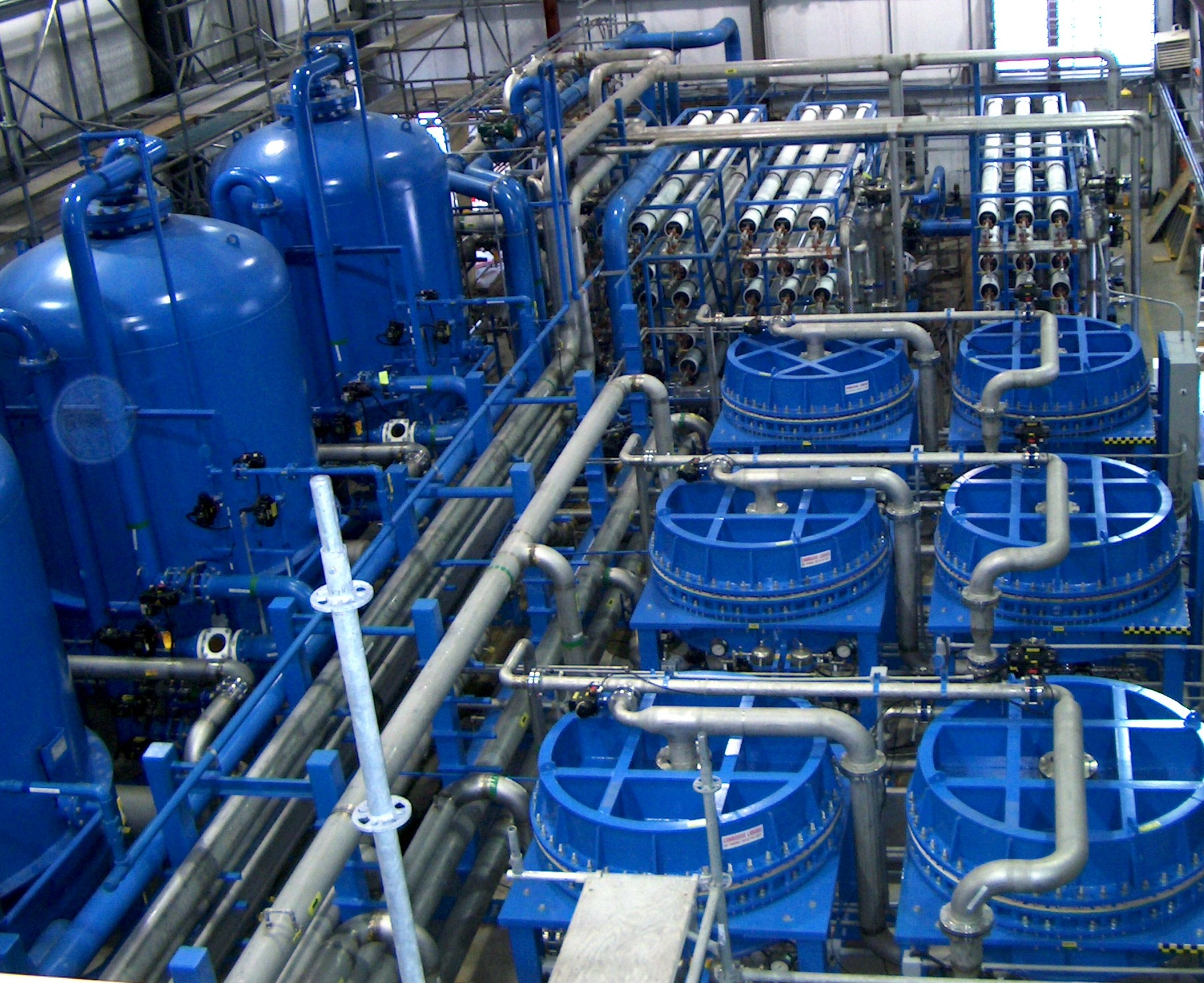 water treatment The disinfection of potable water and wastewater provides a degree of   disinfection is usually the final stage in the water treatment process in order to  limit the.