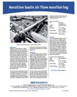 Case Study: Aeration Basin Air Flow Monitoring At A Stockholm Wastewater Plant