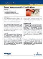 Application Note: Ozone Measurement In Potable Water