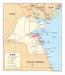 Kuwait+map