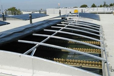 Sunlight-Blocking Covers Control Algae, Reduce Operational Costs At California Utility