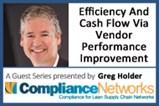 Efficiency And Cash Flow Via Vendor Performance Improvement