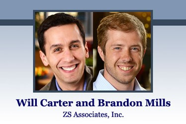 Will Carter and Brandon Mills, managers at ZS