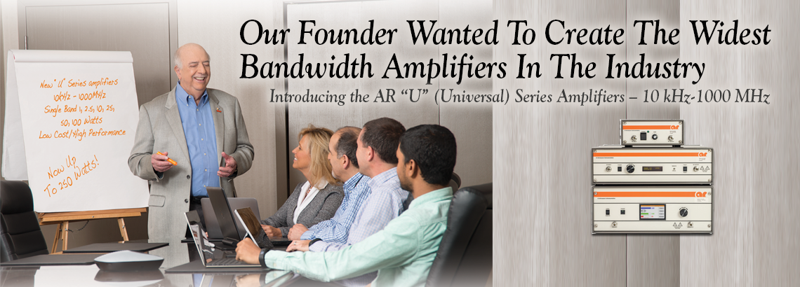 """U"" Series Amplifiers With Widest Bandwidth In The Industry"