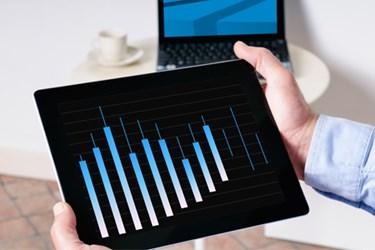 chart data analytics tablet