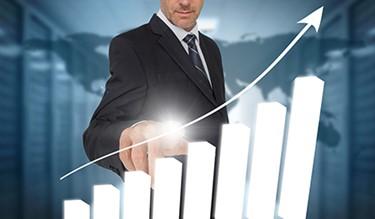 Businessman Touching Bar Chart Interface_450x263