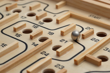 Wooden Box Marble Game