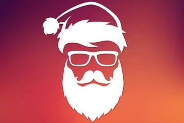 Santa silhoutte