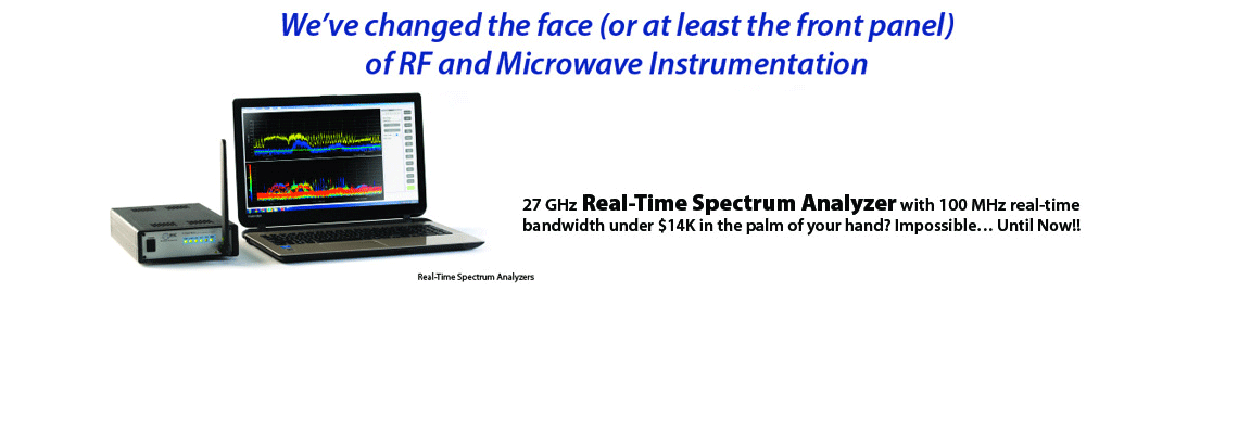 Real Time Spectrum Analyzer: Model RTSA7500 Datasheet