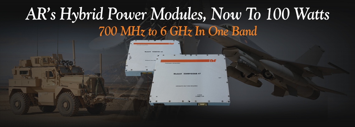 0.7 To 6 GHz Solid State Hybrid Power Amplifier Modules