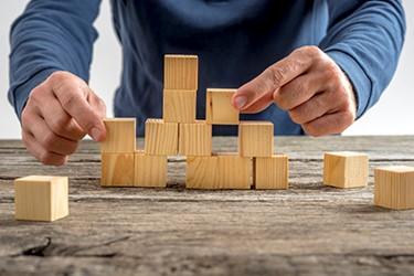 Assembling building blocks 450x300