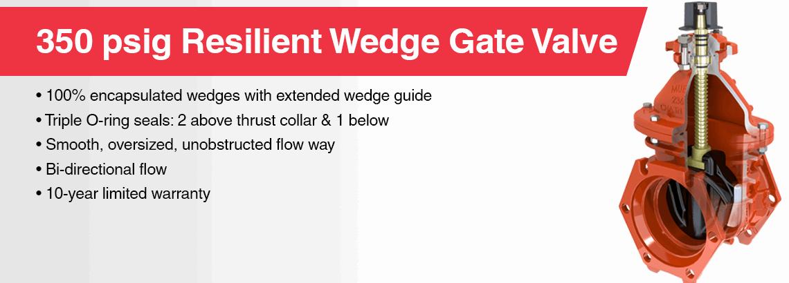 350psi Resilient Wedge Gate Valves