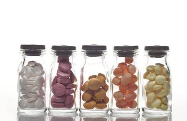 Pills in vial