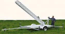 Telescoping Tower and Trailer System