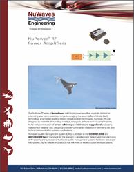 NuPower™ RF Power Amplifiers Brochure