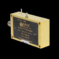 71 – 86 GHz, E-Band Active X4 Frequency Multiplier: Model SFA-713863415-12SF-S1