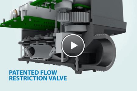 E-Series Plus with Integrated Shutoff Valve Animation